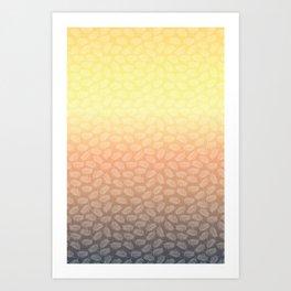 Palm Leave Sunset Art Print