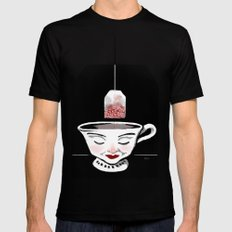 Tea (for zombies) LARGE Black Mens Fitted Tee