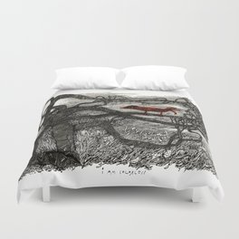 I am colorless Duvet Cover