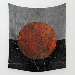 Abstract - Marble, Concrete, and Rusted Iron II Wall Tapestry
