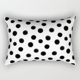 Black polka dots Rectangular Pillow
