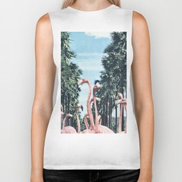 Palm Trees & Flamingos Biker Tank