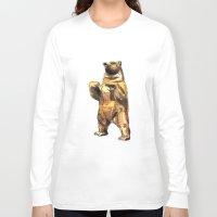 central park Long Sleeve T-shirts featuring Central Park Bear by Piljam