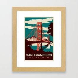 vintage poster san francisco Framed Art Print