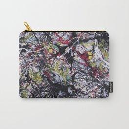 A Jackson Pollak style art digitally vectorised Carry-All Pouch
