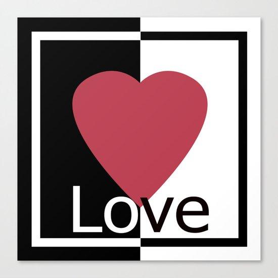 Love .Gift design. Canvas Print
