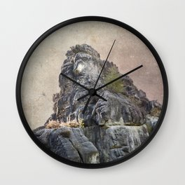 Externsteine top of the rock Wall Clock
