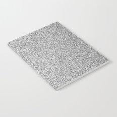 Beautiful Silver glitter sparkles Notebook