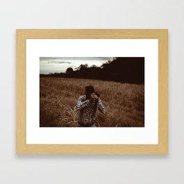 Retro Photographer Framed Art Print