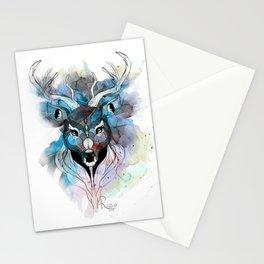 Deer- Blue Stationery Cards