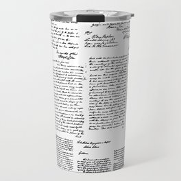 George Washington's Letters Travel Mug