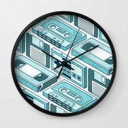 90's pattern-blue Wall Clock