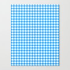 Picnic Pals gingham in blueberry Canvas Print