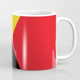 Other Rhombuses, one on another, floating in a red sea. Coffee Mug