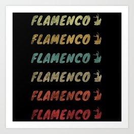 Flamenco Flamenco (Distressed) Art Print