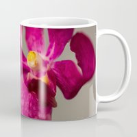 orchid Mugs featuring Orchid by Michelle McConnell