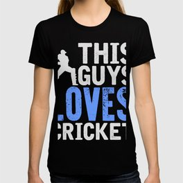 This Guy Loves Cricket T-Shirt Awesome Cricket Tee T-shirt