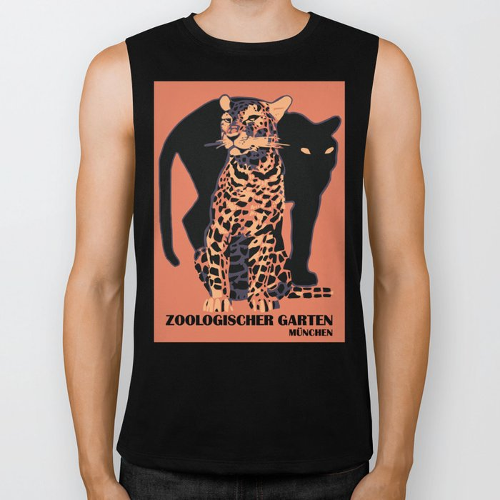 Retro vintage Munich Zoo big cats Biker Tank