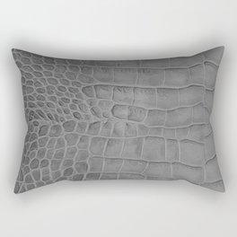 Croco leather effect - grey Rectangular Pillow
