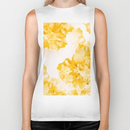 Beautiful Peony Flowers White Background #decor #society6 #buyart Biker Tank