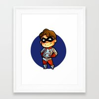 bucky Framed Art Prints featuring BUCKY! by zombietonbo