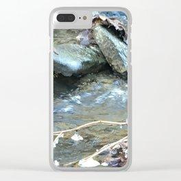 Frozen water drop Clear iPhone Case