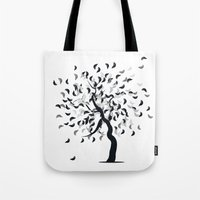 clear Tote Bags featuring Clear by zabalza