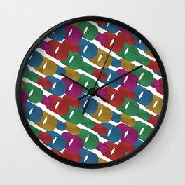 3D X Pipes Wall Clock