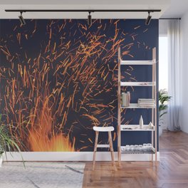 Fire and Sparks Wall Mural
