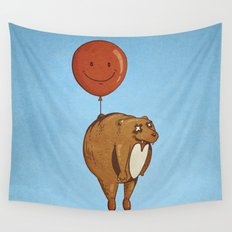 Float On, Bear, Float On Wall Tapestry