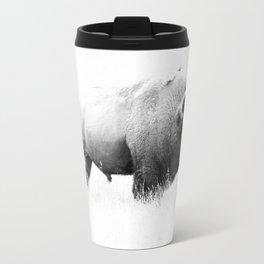 Bison - Monochrome Metal Travel Mug