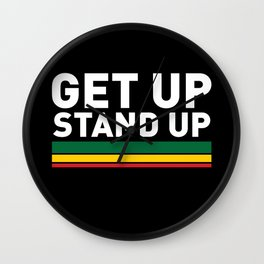 Get Up Stand Up / Rasta Vibrations Wall Clock