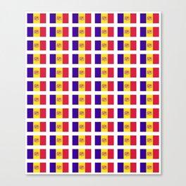 flag of andorra- andorre,andorra,andorran,catalan,pyrenees,pyrenean Canvas Print