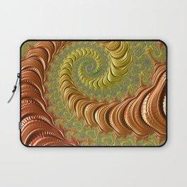 Bronze Twist - Fractal Art Laptop Sleeve