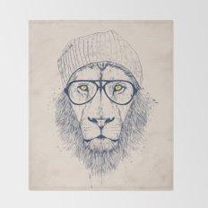 Cool lion Throw Blanket