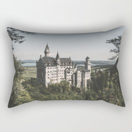 Neuschwanstein fairytale Castle - Landscape Photography Rectangular Pillow