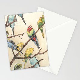 Parakeets Stationery Cards