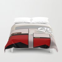 """picard Duvet Covers featuring """"Number One Dad"""" Minimalist Star Trek TNG The Next Generation Picard startrek Fathers Day Father's  by Trektangles"""