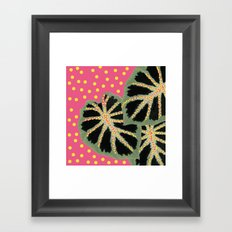 Dotty Pink Framed Art Print