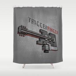 Triggerfinger Shower Curtain