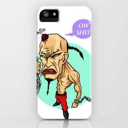 angry guy iPhone Case