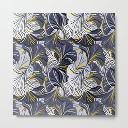 Big grey flowers, petals, leaves Metal Print
