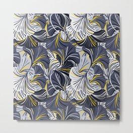 Big grey flowers, petals, leaves Metal Print