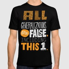 All Generalizations Black LARGE Mens Fitted Tee