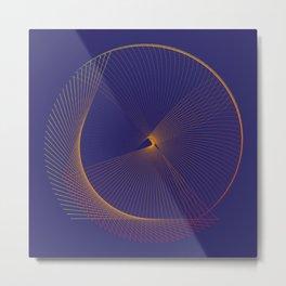 Elegant minimal modern art Metal Print