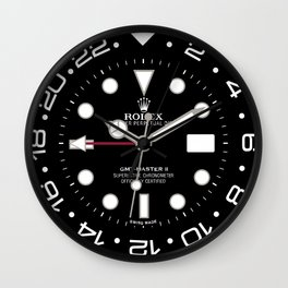 Rolex GMT-Master II Face - 116710BLRO - Black Dial Wall Clock