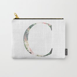 C - Floral Monogram Collection Carry-All Pouch