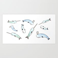 Narwhal Friends Art Print
