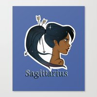 sagittarius Canvas Prints featuring Sagittarius  by Jo Sharp