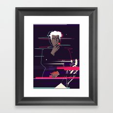 David Lynch - Glitch art Framed Art Print